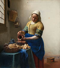 Vermeer, the Milkmaid.