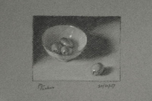 Olives in a Bowl – a Still Life Drawing
