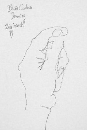 blind-contour-hand