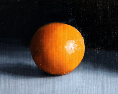 Study in oils of an orange sphere