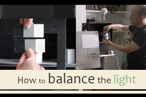 How to balance the light between your painting and your subject