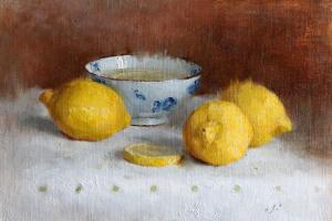 Lemon Water – Oil on Linen Panel
