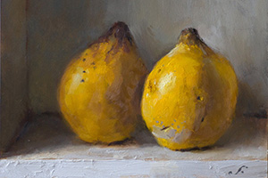 Two Quinces – and The Painting of Shadows