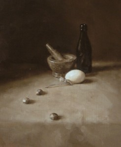 Tonal Still Life with Duck Egg