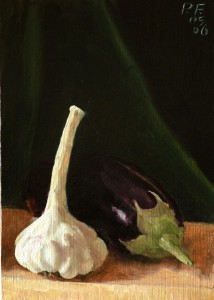 Garlic and Aubergine