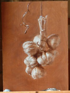 Study for Hanging Garlic