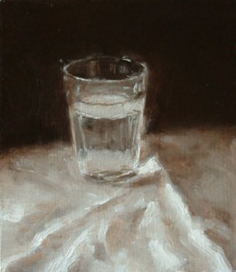 Still Life Study with Glass of Water