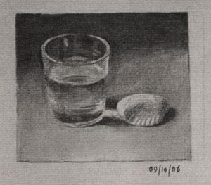 Glass and Sea Shell