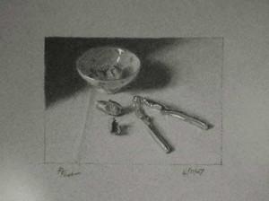 Nutcracker - a Still Life Study in Charcoal