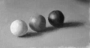 Three spheres - value 10, 5 and 1