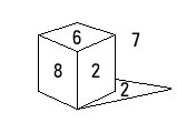 Munsell values of a value 5 cube