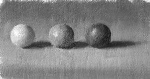 Three spheres - value 8, 5 and 3