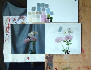Chrysanths in progress 1