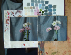 Chrysanths in progress 2