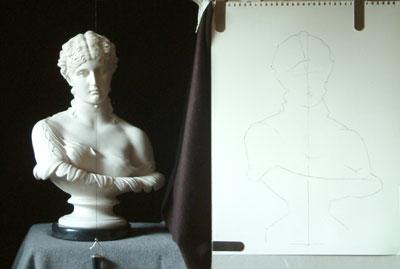 Clytie One, work in progress 4