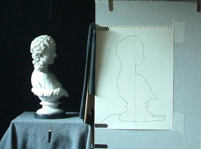 Clytie Two, work in progress 1