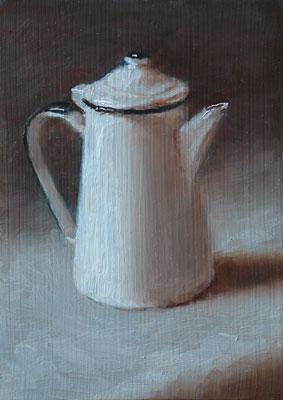 Still life study with coffee pot