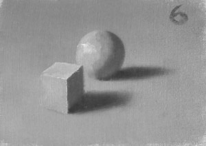 Munsell Value 6 cube and sphere