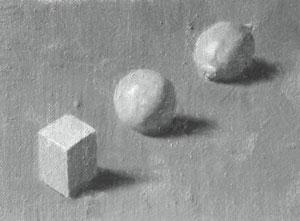Cube, sphere and lemon - value 7