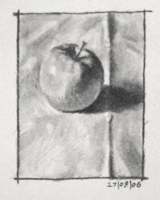 Still life drawing number six - an apple