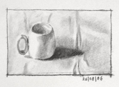 Still life drawing number five - a cappuccino cup