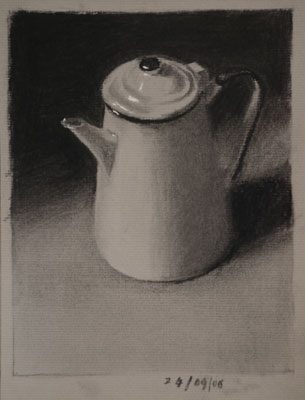 Still life drawing number Thirty-one - Coffee Pot Three