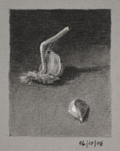 Still life drawing number Thirty-six - Garlic Cloves