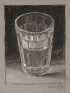 Still life drawing number twenty-nine - Glass of Water