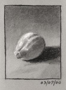 Still life drawing number fourteen - a lemon
