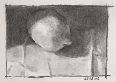 Still life drawing number one - a lemon