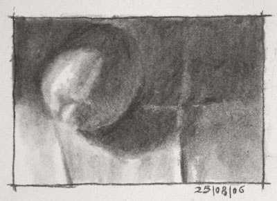 Still life drawing number three - a lemon