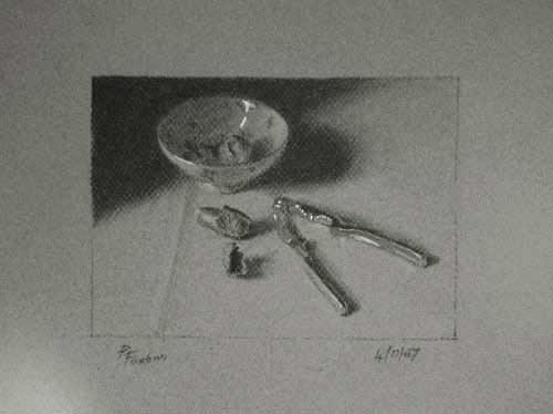 Still life drawing number forty-eight - Nutcracker