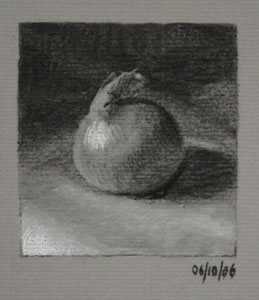 Still life drawing number Thirty-eight - Onion
