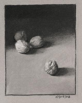 Still life drawing number twenty - walnuts