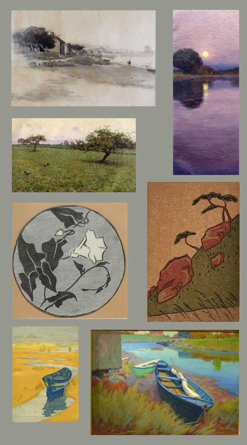 Paintings and prints by Arthur Wesley Dow