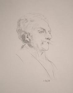 Copy of Gabriel Faure by John Singer Sargent