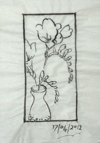 Another reworking, shortening the format and taking a flower out of the composition.