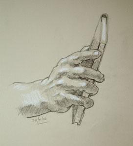 Hand drawing number ten