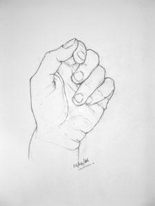 Hand drawing number thirteen