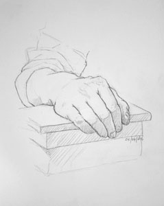 Hand drawing number fourteen