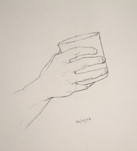 Hand drawing number Seventeen