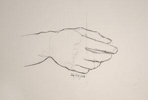 Hand drawing number Eighteen
