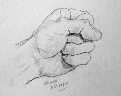 Hand drawing number two