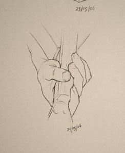 Hand drawing number Twenty