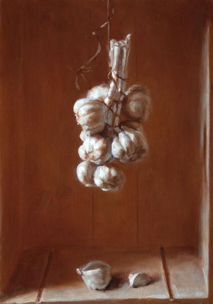 hanging-garlic
