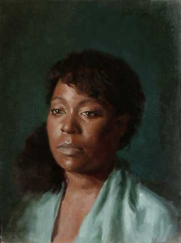 Portrait of Michelle, Oil on Canvas Panel