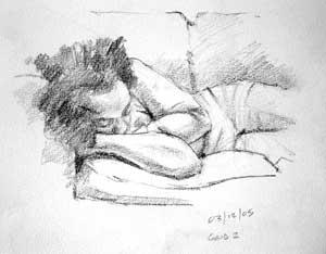 Michelle sleeping