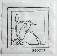 A first crop of the negative shape drawing