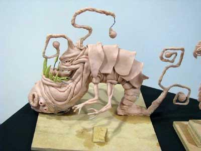 Peter's scary beastie sculpture