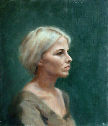 Portrait of Rhea, Oil on Canvas Panel